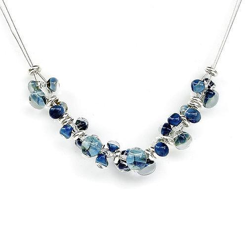 Sea Blue Multi Glass Necklace