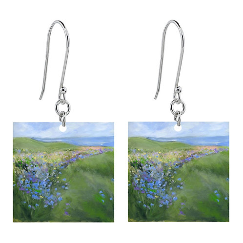 Sue Fenlon 'Cornflowers' Earrings - Short Square