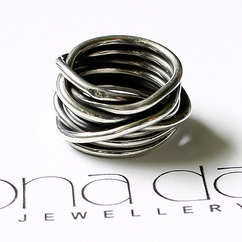 Mexican Silver Wrap Ring