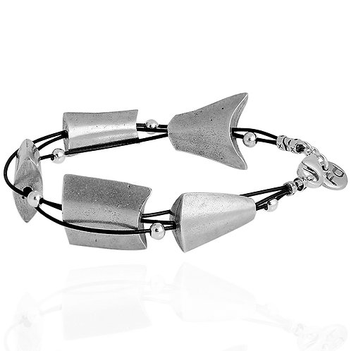 Gutted Fish Bracelet - Silver Finish