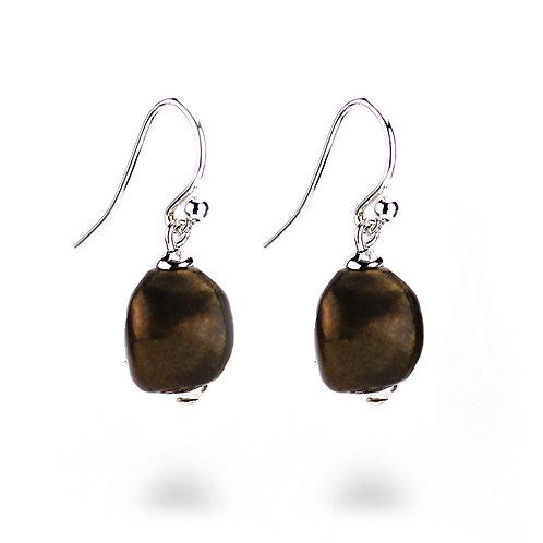 Pebble Earrings - Bronze Finish