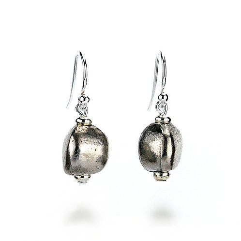 Pebble Earrings - Silver Finish