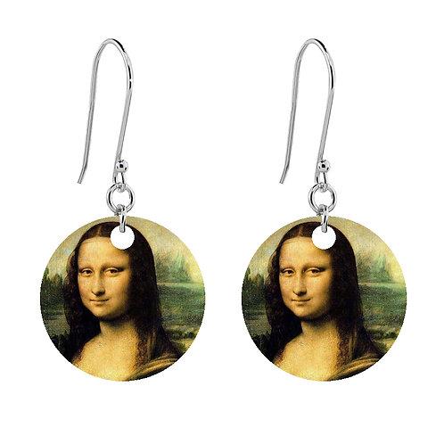 Leonardo da Vinci - Mona Lisa Earrings - Short Round