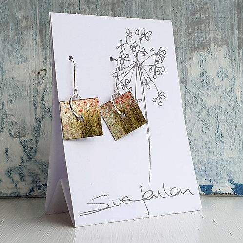 Sue Fenlon 'Summer Pinks' Square Dangly Earrings