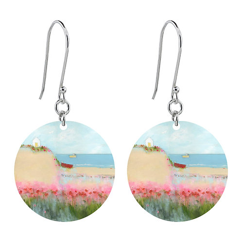 Sue Fenlon 'Poppies and Seagulls' Earrings - Short Round