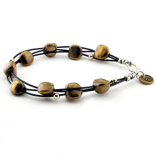 Pebble Bracelet - Bronze Finish