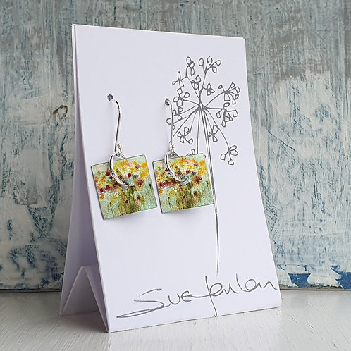 Sue Fenlon 'April Showers' Square Dangly Earrings