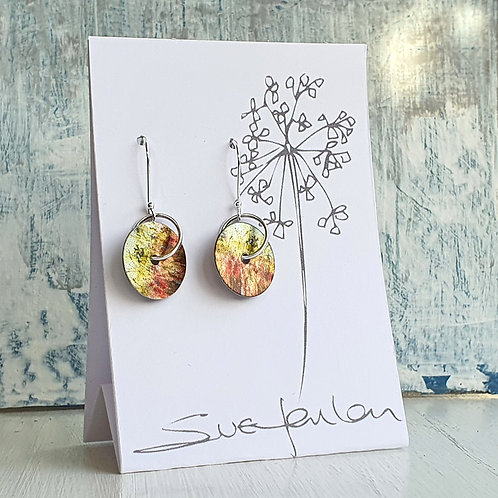 Sue Fenlon 'Summer Hedgerow' Round Dangly Earrings