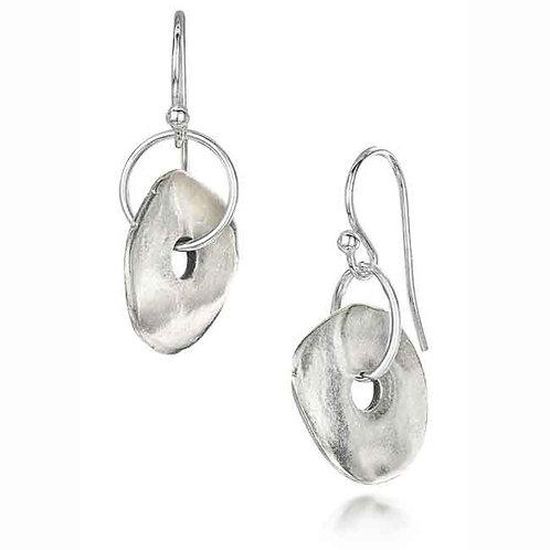 Rock Pool Earrings - Silver Finish