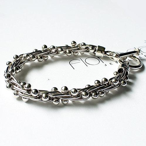 Mexican Silver Peppercorn Bracelet