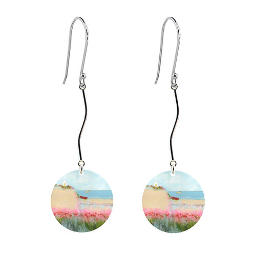 Sue Fenlon 'Poppies and Seagulls' Earrings - Long Round
