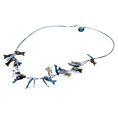 Dinky Fish Necklace - Mixed