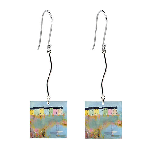 Sue Fenlon 'Spring Tides' Earrings - Long Square