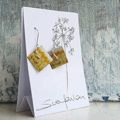 Sue Fenlon 'Sunflowers' Square Dangly Earrings