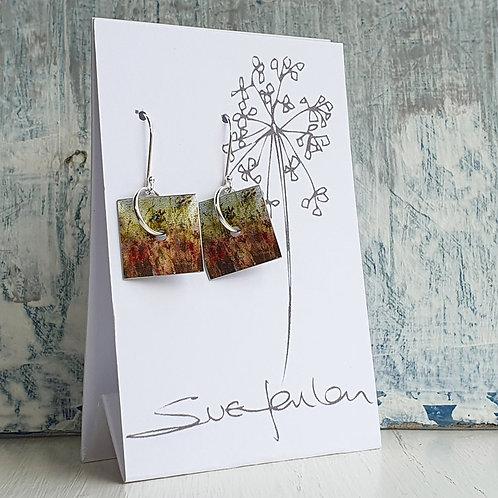 Sue Fenlon 'Summer Hedgerow' Square Dangly Earrings