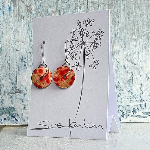 Sue Fenlon 'Poppies' Round Dangly Earrings