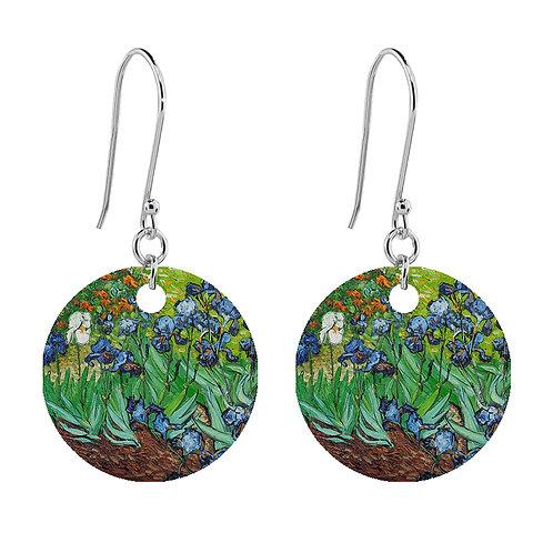 Van Gogh Earrings - Irises - Short Round