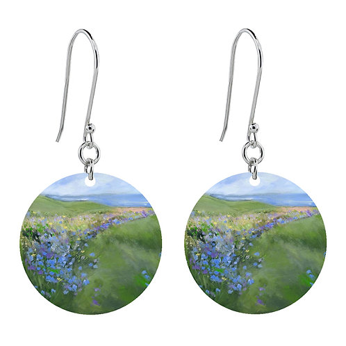 Sue Fenlon 'Cornflowers' Earrings - Short Round