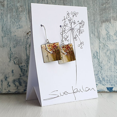 Sue Fenlon 'Through the Window' Square Dangly Earrings