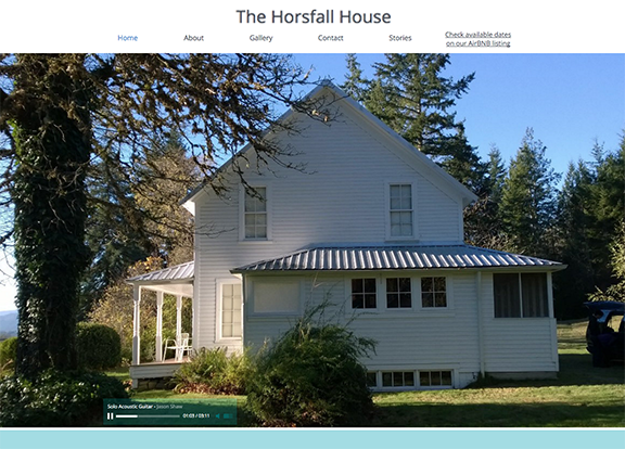 The Horsfall House web site