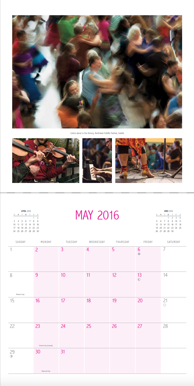 May 2016 Spread, Contra Calendar