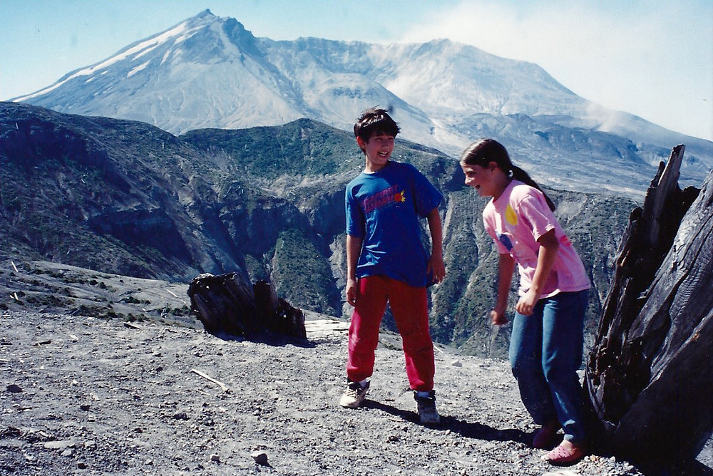 On the edge of Mt. St. Helens