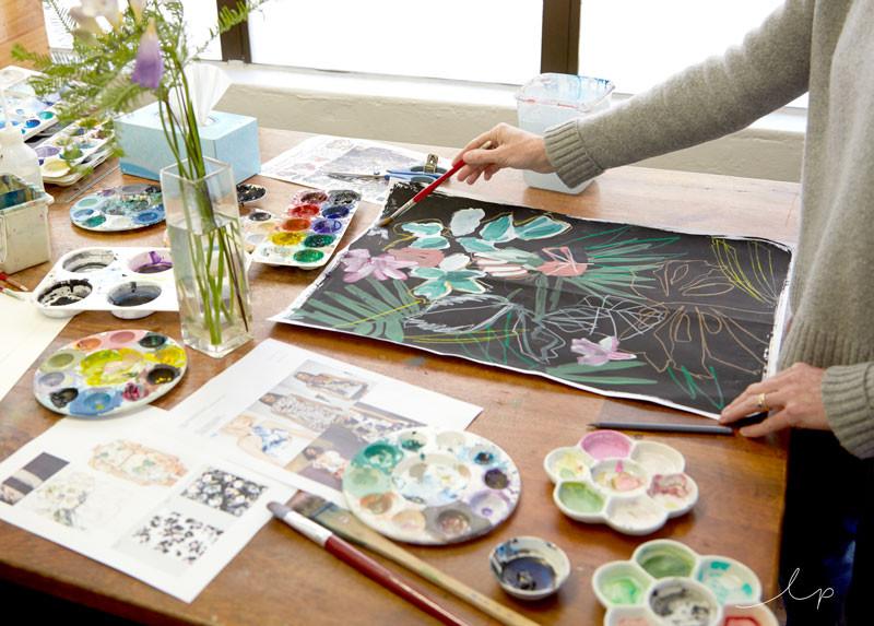 Watercolour Flower Textiles