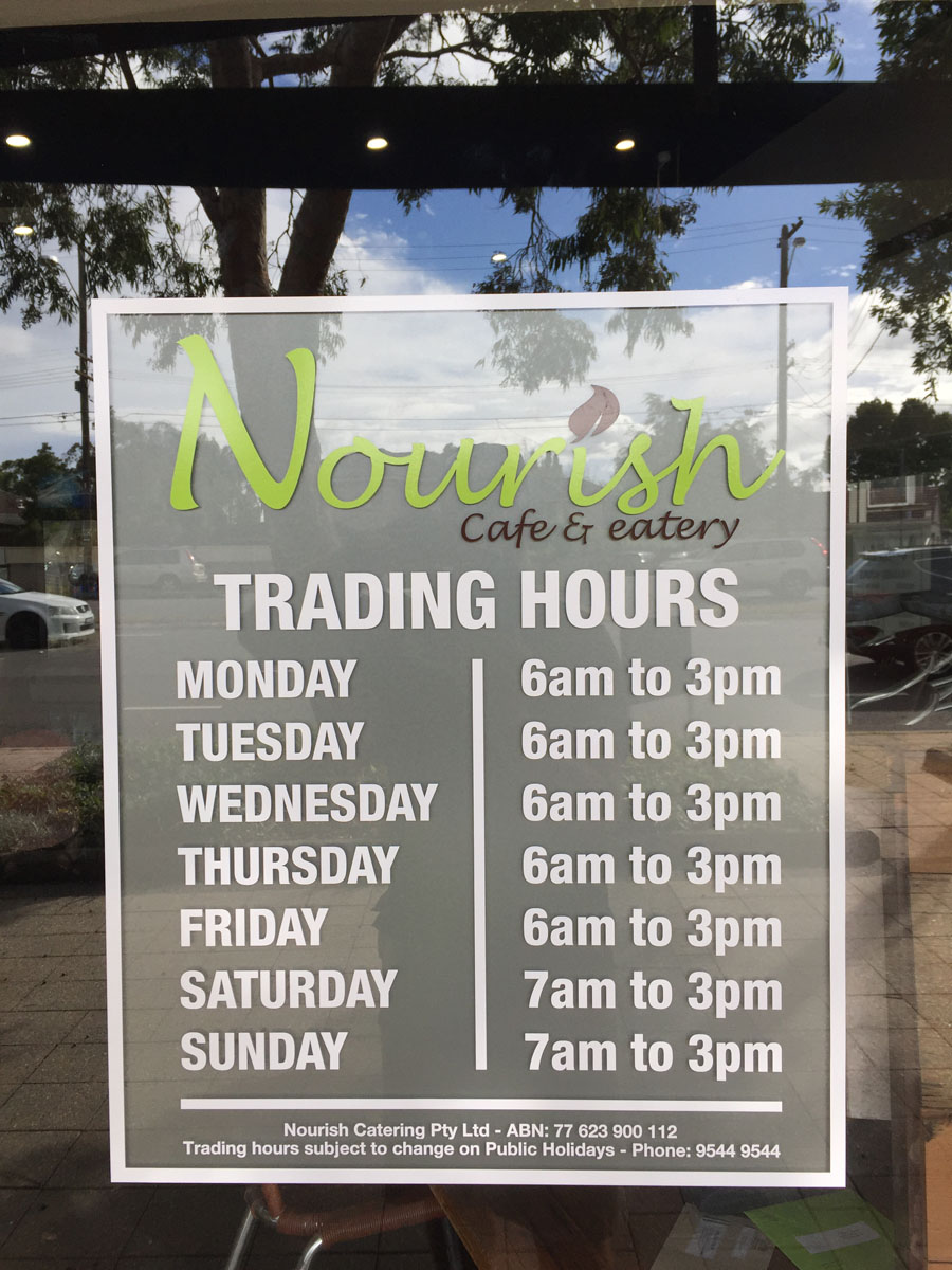 Nourish Hours
