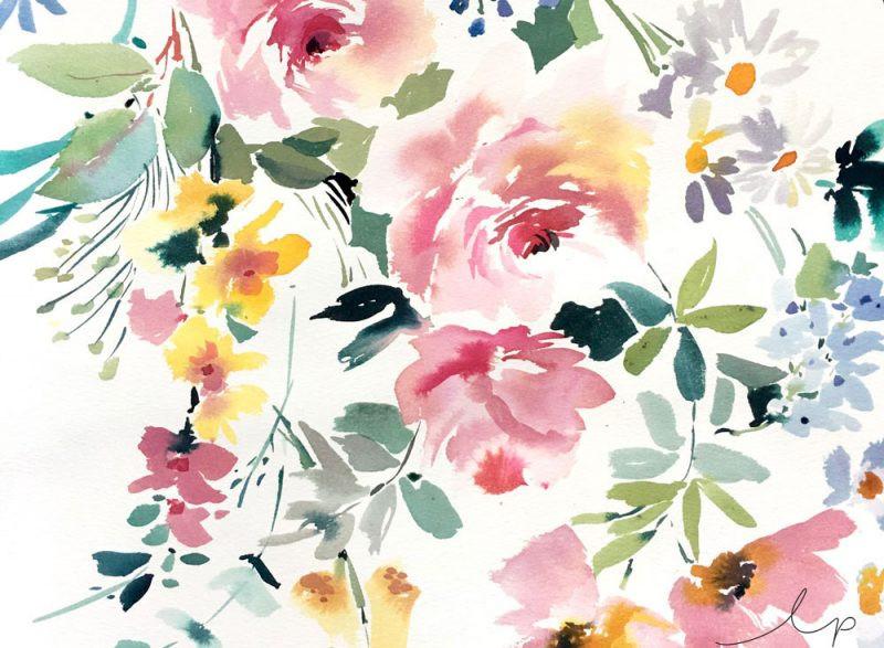 Watercolour Floral for Textiles