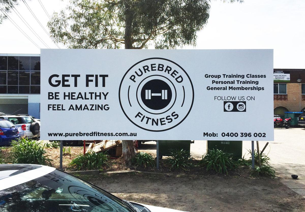 Purebred Fitness Sign