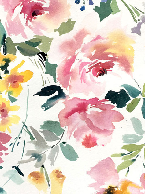 Watercolour Florals For Textile Design: 2 Min Tute