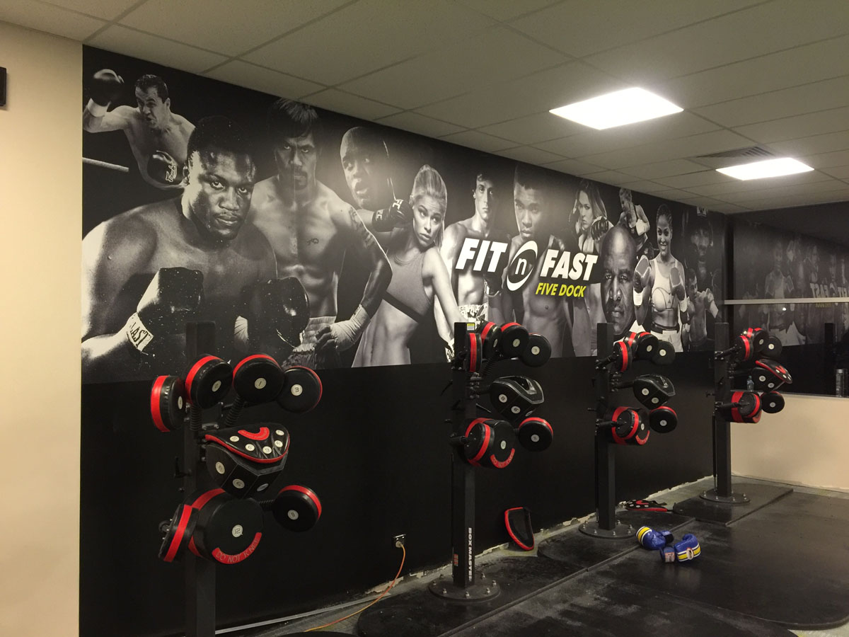 Fit n Fast Gym Wall Montage