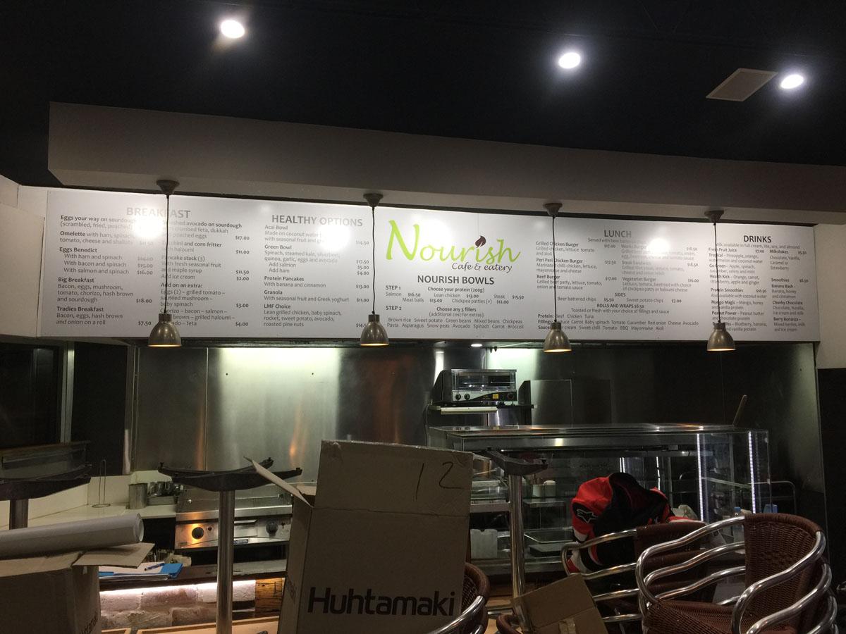Nourish Menu Board 1
