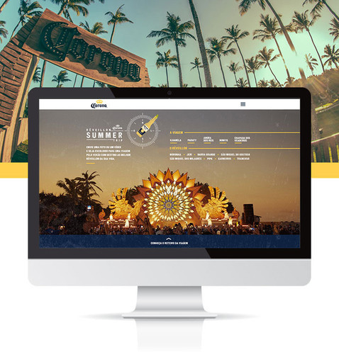 Corona Summer Trip Website