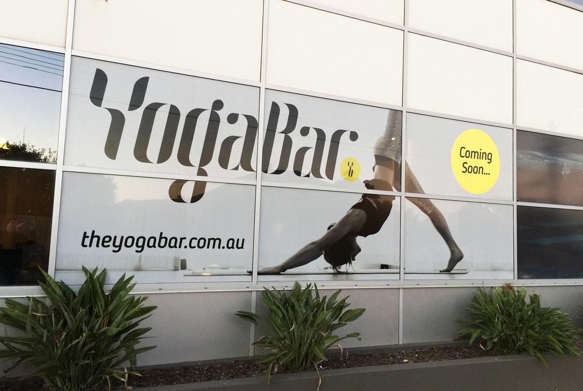 Yoga Bar Window