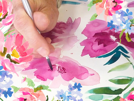 3 Brushes That Will Transform Your Watercolour Flowers