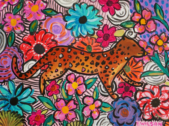 Floral Cheetah