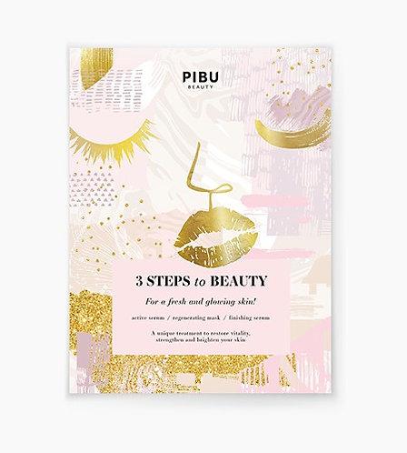 PIBU 3 Steps to Beauty face mask
