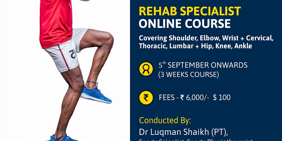 Rehab Specialist Online Course