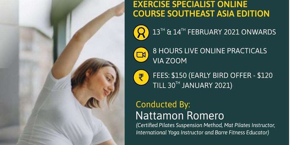 Antenatal and Postnatal Pilates Exercise Specialist Live Virtual Course
