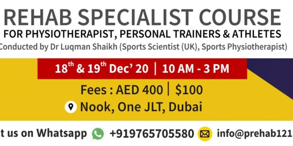 Rehab Specialist Course UAE Edition