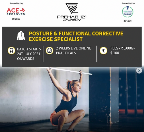 Posture % functional Corrective Exercise Specialist