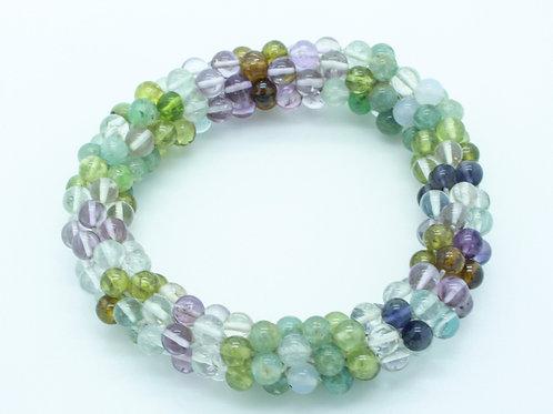 Multi-hued Quartz Bracelet