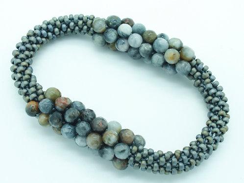 Gray Jasper Bar Bracelet