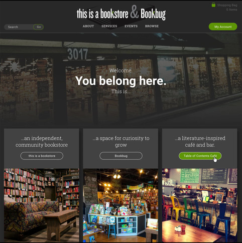 This is a Bookstore & Bookbug web comps_