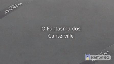 Book trailer - O fantasma dos Canterville