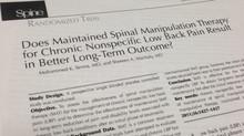 Revista SPINE recomenda ajustes de manutenção para prevenção da dor lombar