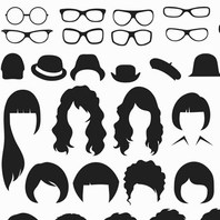 COIFFURE  BARBE  LUNETTES