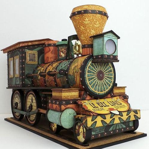 Tren golosinero de  cartulina