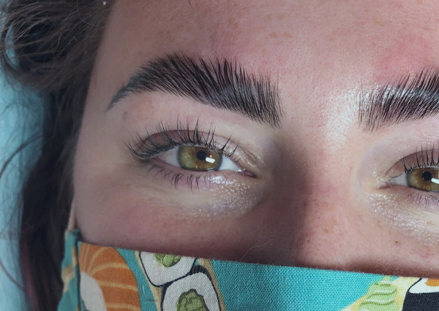 Brow Lamination and Lift and Tint